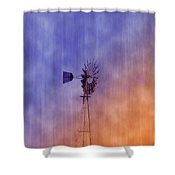 Weather Vane Sunset Shower Curtain by Bill Cannon