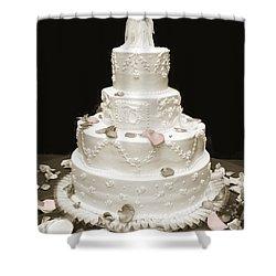 Wedding Cake Petals Shower Curtain by Marilyn Hunt