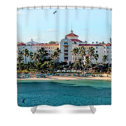Welcome To Nassau Shower Curtain by Christopher Holmes