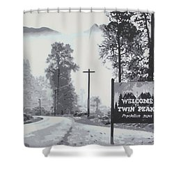 Welcome To Twin Peaks Shower Curtain by Ludzska