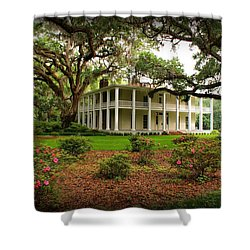 Wesley House Shower Curtain by Sandy Keeton