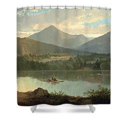 Western Landscape Shower Curtain by John Mix Stanley