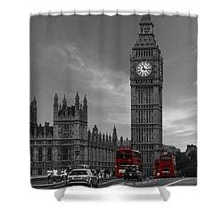 Westminster Bridge Shower Curtain by Martin Newman