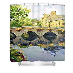 Westport Bridge County Mayo Shower Curtain by Conor McGuire