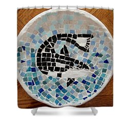 Whale Shower Curtain by Jamie Frier