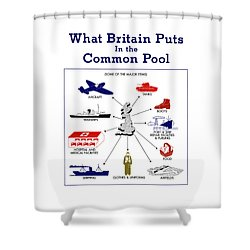What Britain Puts In The Common Pool Shower Curtain by War Is Hell Store