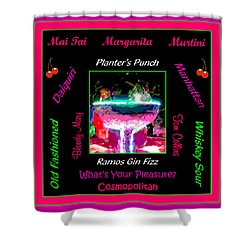 What's Your Pleasure Shower Curtain by Marian Bell