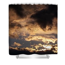 When Heaven Speaks Shower Curtain by Glenn McCarthy Art and Photography