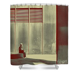 When Shes Gone Shower Curtain by Dana DiPasquale
