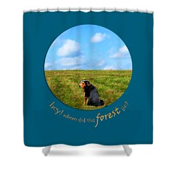 Where Did The Forest Go Shower Curtain by Christina Rollo
