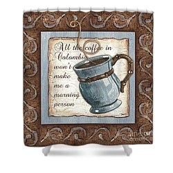 Whimsical Coffee 1 Shower Curtain by Debbie DeWitt