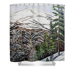 Whispering Pines Shower Curtain by Marilyn  McNish