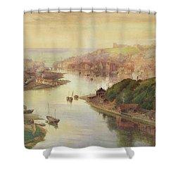 Whitby From Larpool Shower Curtain by John Sowden