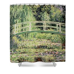 White Nenuphars Shower Curtain by Claude Monet