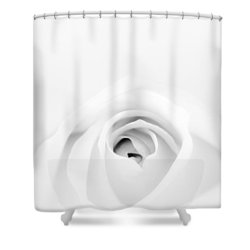 White Rose Shower Curtain by Scott Norris