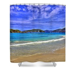 White Sands Beach Shower Curtain by Scott Mahon