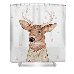 White Tailed Deer Square Shower Curtain by Animal Crew