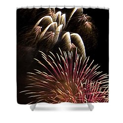 White Trails Shower Curtain by David Patterson