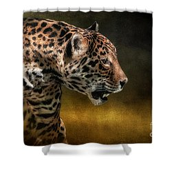 Who Goes There Shower Curtain by Lois Bryan