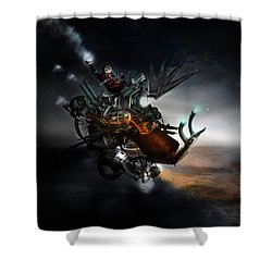 Who Knew What Snails Can Do Shower Curtain by Mary Hood