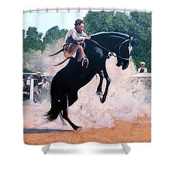 Whoa Nelly Shower Curtain by Tom Roderick