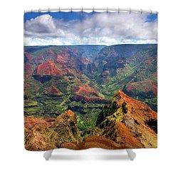 Wiamea View Shower Curtain by Mike  Dawson