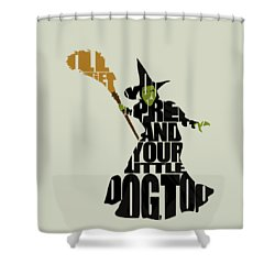 Wicked Witch Of The West Shower Curtain by Ayse Deniz
