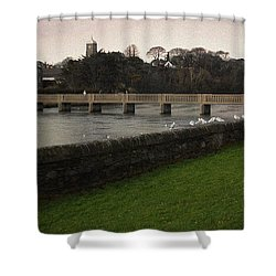 Wicklow Footbridge Shower Curtain by Tim Nyberg