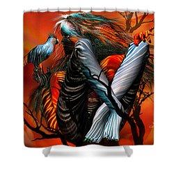 Wild Birds Shower Curtain by Carol Cavalaris
