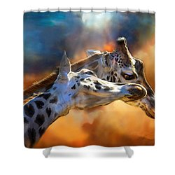 Wild Dreamers Shower Curtain by Carol Cavalaris