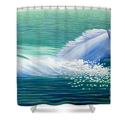 Will Power Shower Curtain by Brian  Commerford