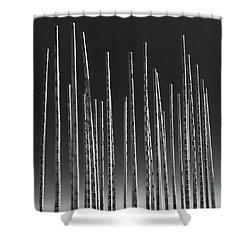 Wind Organ Shower Curtain by Wim Lanclus