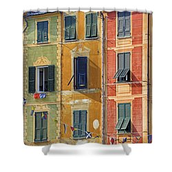Windows Of Portofino Shower Curtain by Joana Kruse