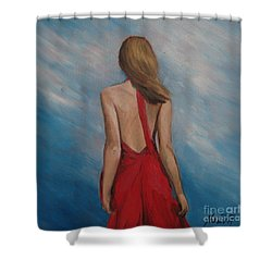 Windy Day Shower Curtain by Jindra Noewi