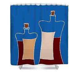 Wine Bottles Shower Curtain by Frank Tschakert