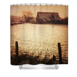 Winter Barn Shower Curtain by Wim Lanclus