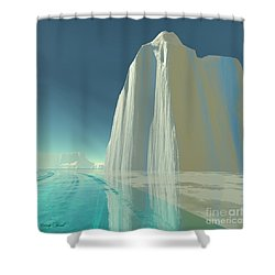 Winter Crystal Shower Curtain by Corey Ford