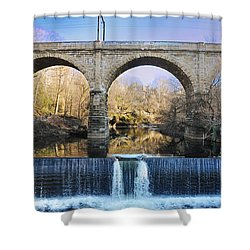 Wissahickon Viaduct Shower Curtain by Bill Cannon