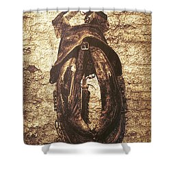 Without Horse Shower Curtain by Wim Lanclus