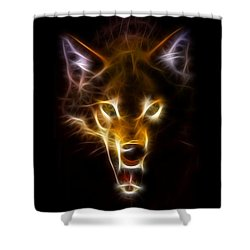 Wolf Ready To Attack Shower Curtain by Pamela Johnson