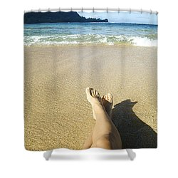 Womans Legs Relaxing Shower Curtain by Kicka Witte - Printscapes