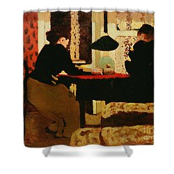 Women By Lamplight Shower Curtain by vVuillard