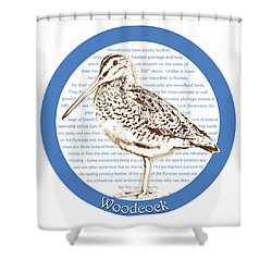 Woodcock Shower Curtain by Greg Joens
