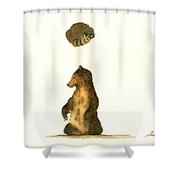 Woodland Letter I Shower Curtain by Juan  Bosco