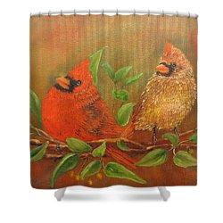Woodland Royalty Shower Curtain by Loretta Luglio