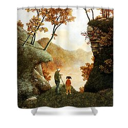 Words Of Wisdom Shower Curtain by Duane R Probus