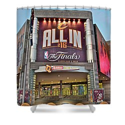 World Champion Cleveland Cavaliers Shower Curtain by Frozen in Time Fine Art Photography