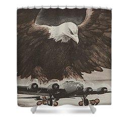 World War II Advertisement Shower Curtain by American School