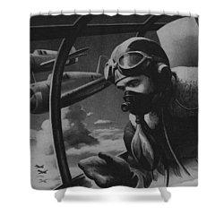 World War II Fighter Pilot Shower Curtain by American School