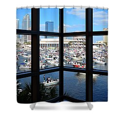 Worlds Biggest Boat Party Shower Curtain by David Lee Thompson